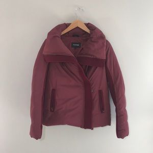 Mackage Montreal Luxury down maroon jacket